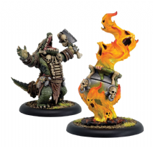 Gatorman Boil Master & Spirit Cauldron – Minion Unit (resin/metal)